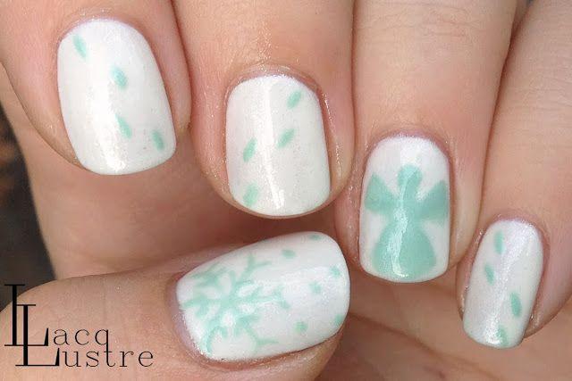Snow Angel Nail Art