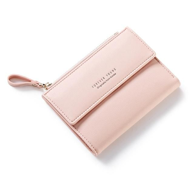 4557173628cf7 Forever Young Female Wallet Women Short Coin Card Holder Ladies Money Bag  Purse Carteira Slim Small