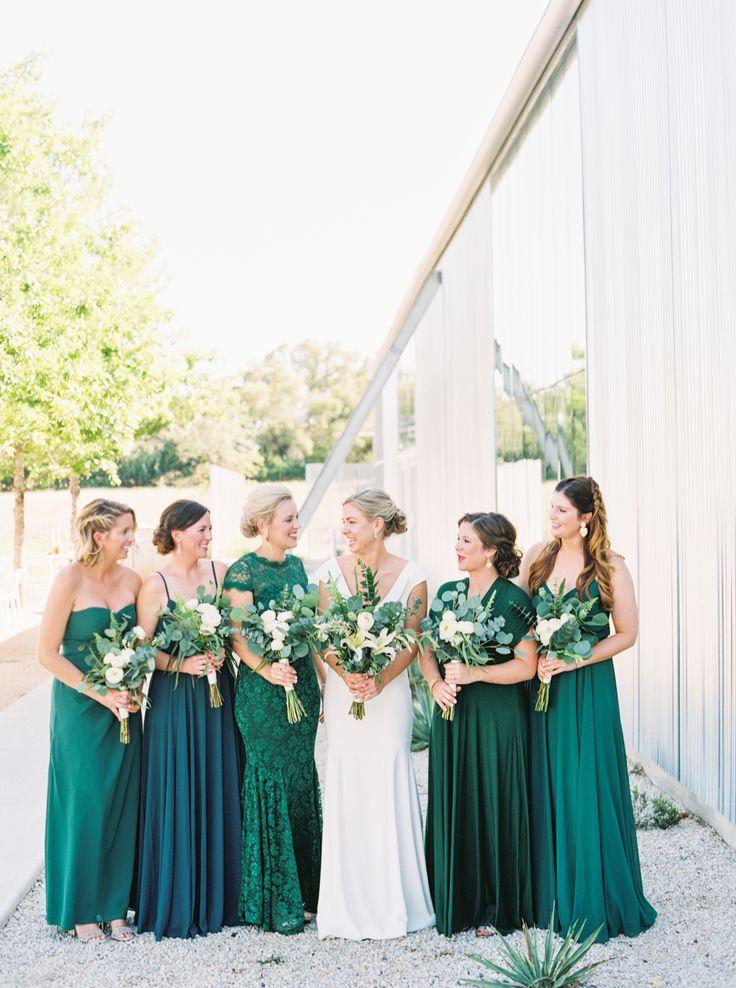 Modern Hill Country Greenery-Inspired Wedding