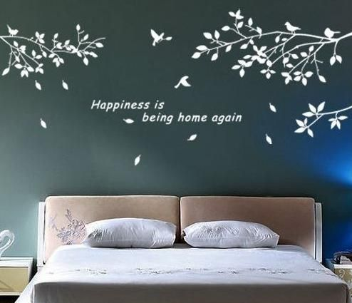 DIY Removable Mural Decal Wall Sticker Trees Branches Birds Art Vinyl Decor BlackWhite 2 Colors Stickers Wallpaper