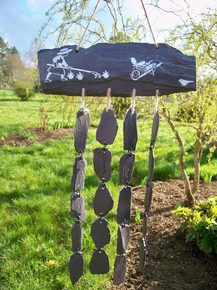 Les 107 meilleures images du tableau jardin sur pinterest for Ardoise decorative jardin