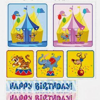 stiker lucu untuk ulang tahun balita/TK/SD. Buat sendiri dengan kerajinan gunting tempel