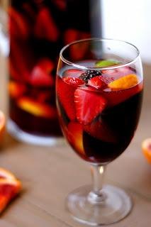 Blood Orange Blackberry Sangria by Fabtastic East