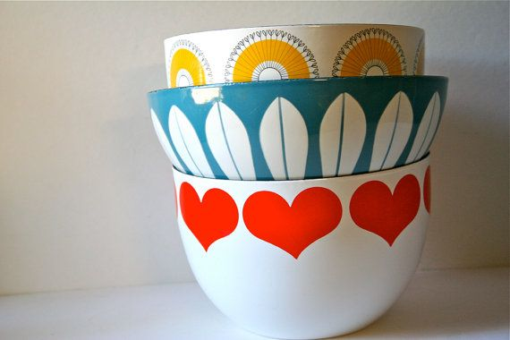 Vintage Cathrineholm Norway Lotus Ware Bowl   di blueflowervintage, $85,00