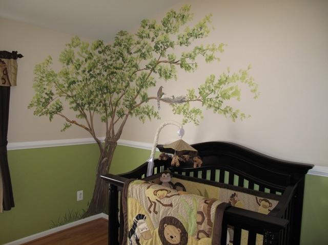 Safari Nursery Tree Stencil Oh Boy Its A Boy Girl