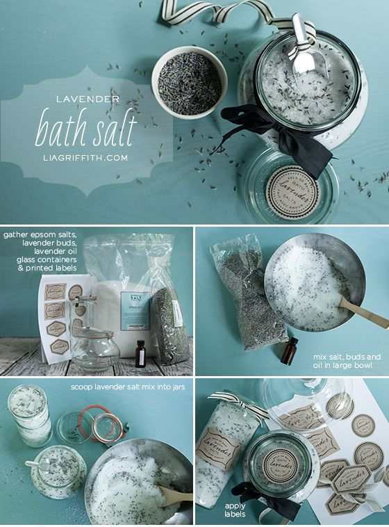 How To: DIY Lavender Bath Salts (Epsom Salts). The recipe is in the comments … 6 cups salt, one cup of lavender buds & 2 tablespoons of lavender essential.