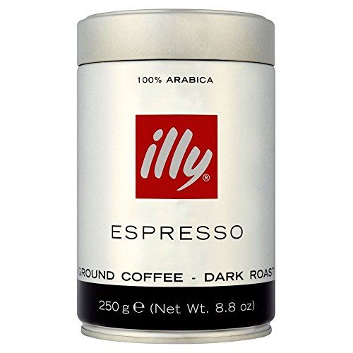 Illy Espresso Caffe Macinato Dark Ground Roasted Coffee 250g -- To view further for this item, visit the image link.