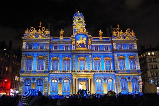 Fête de Lumières à Lyon, France