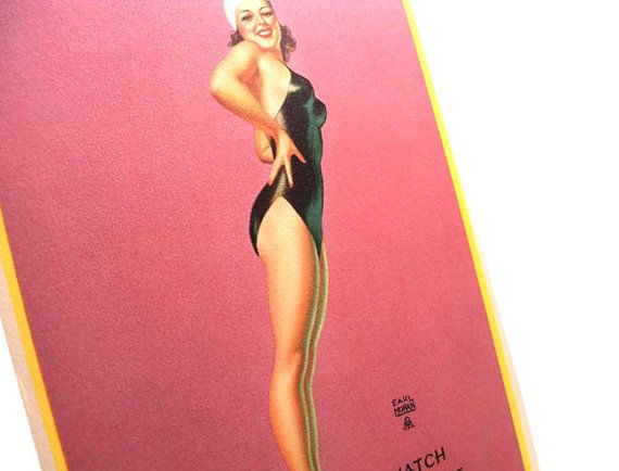 Authentic Vintage 1940s Earl Moran Larger Risque Pin by PinkyAGoGo