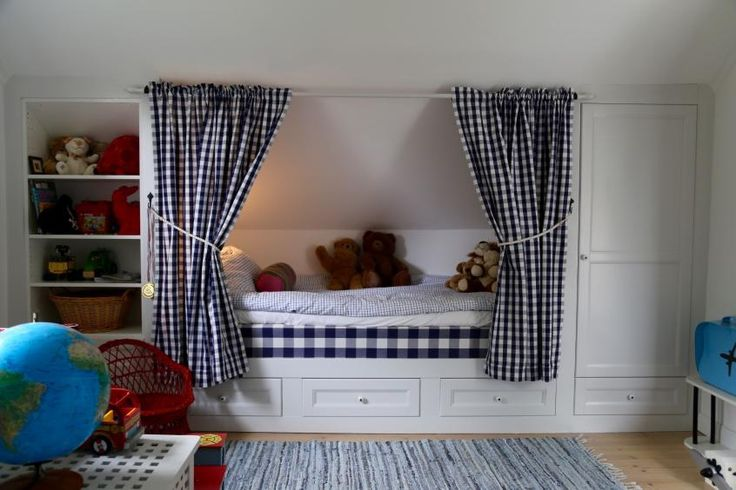 Bra lösning för sovrum med snedtak