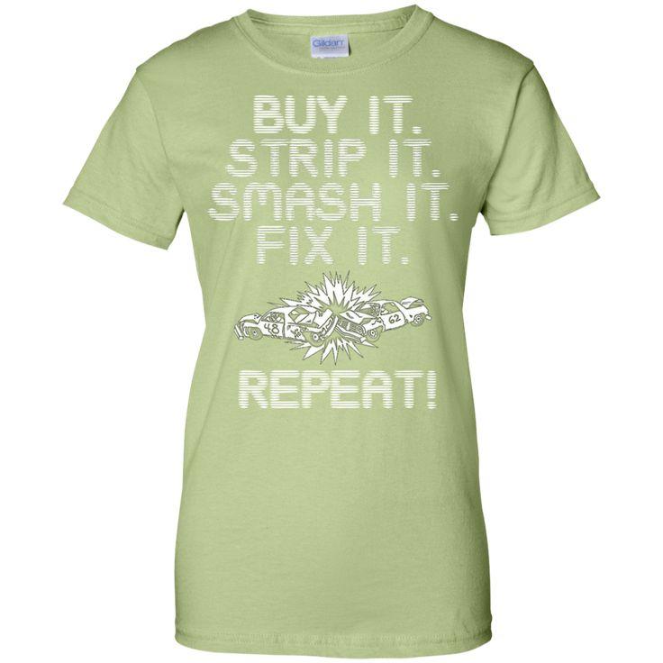 Demolition Derby Ladies Custom 100% Cotton T-Shirt