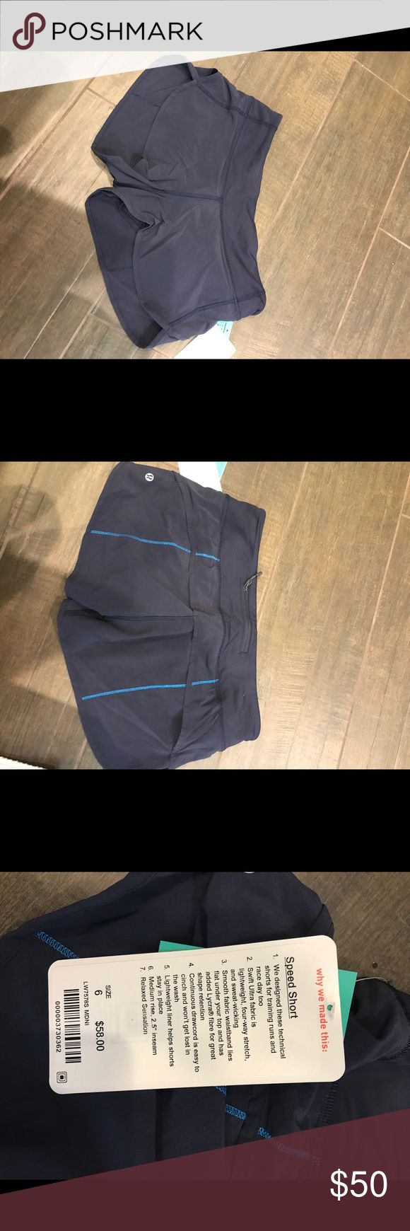 Lululemon speed shorts size 6 New with tags lululemon speed shorts lululemon athletica Shorts