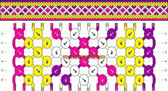 Схемы косого плетения к 8 марта
