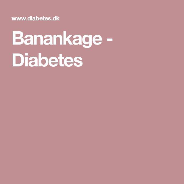 Banankage - Diabetes