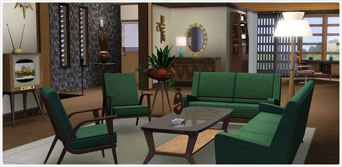 mid century modern dining and style set sims 3 download. sala de jantar e estar era atômica - store the sims™ 3 | idéias para o sims pinterest free and mid century modern dining style set download t