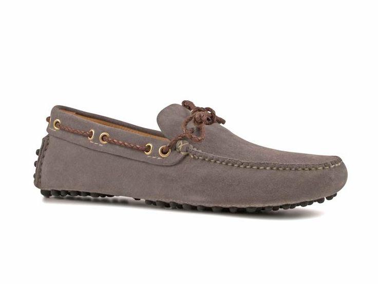 Car Shoe men's loafers in Steel Suede - Italian Boutique $223