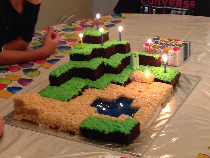 Minecraft Images For Birthday Cake : Minecraft birthday cake church Pinterest Minecraft ...