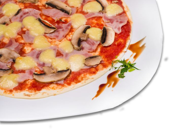 Lipie cu sos de rosii, mozzarella, ciuperci si sunca. Detalii la http://www.casavanatoreasca.ro/meniu/