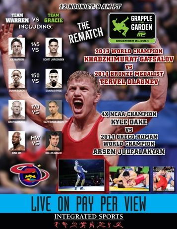 """Olympic Champions and MMA Superstars to Wrestlein the 3rdannual Grapple at The Garden A collection of Mixed Martial Arts (MMA) icons, including Gray Maynard, Joe Warren and """"King Mo"""" Lawal will join Olympic Gold Medalist and five-time world champion Khadjimurad Gatsalov of Russia, Olympic hopeful Kyle Dake of the U.S. and world champion Arsen Julfalakyan of Armenia in the much-anticipated Grapple at The Garden, presented by MusclePharm live on pay-per-view from Madison Square Garden ..."""