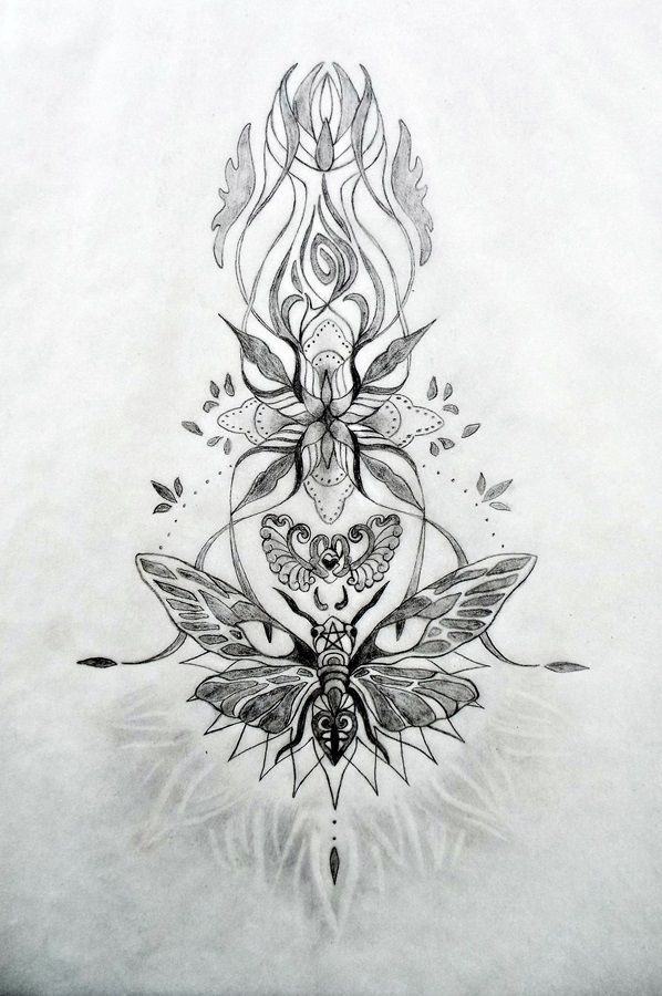 Creating this latest sacred tattoo design was another unique journey and it even called for its own music to support the channeling process, which had an enchanted and haunting quality to it. What ...