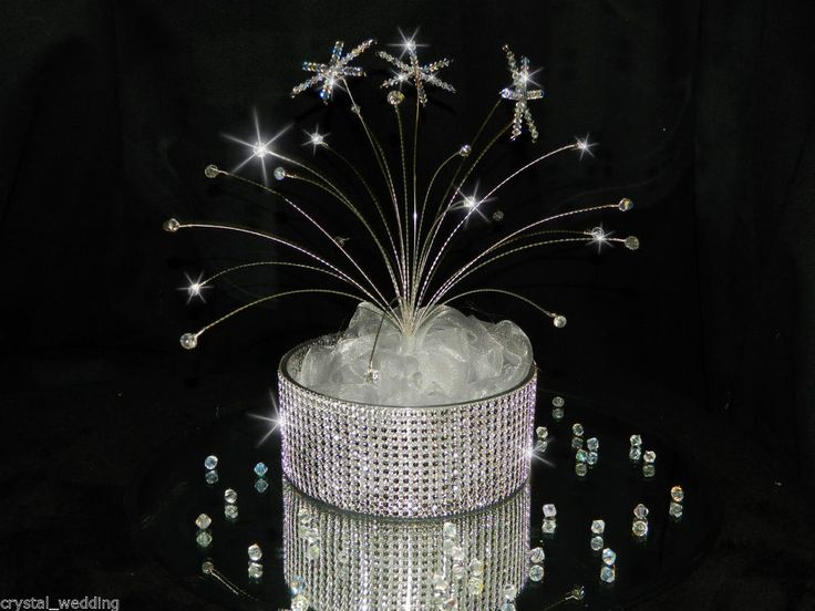 Snowflake table centrepiece real crystals winter wedding decoration