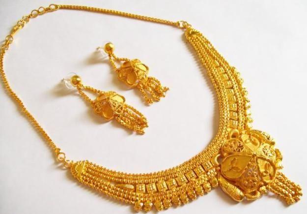 Indian Gold Necklace Set Designs Bangle And Bracelets