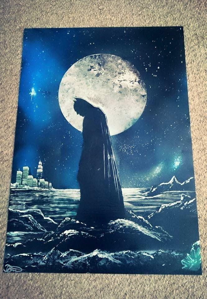 How to Spray Paint Art - Batman - The Dark Knight
