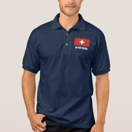 #women - #Swiss flag custom polo shirts for men and women