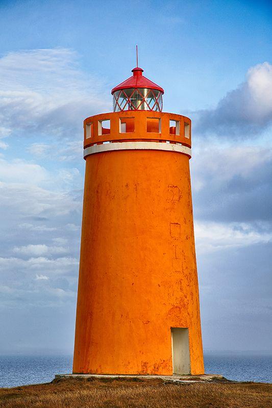 Hólmsberg Lighthouse, Suðurnes, Iceland
