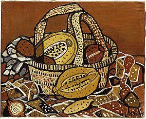 Margaret PRESTON, Still life: fruit (Arnhem Land motif)