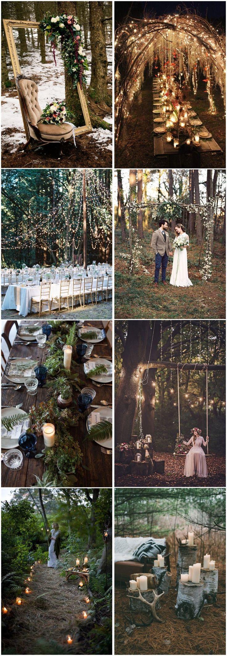 Rustikale Hochzeiten »20 Woodland-Hochzeitsideen, die Sie inspirieren können» ❤️ Se …   – Wedding Decorations