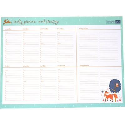 WEEKLY PLANNER - FOREST FRIENDS