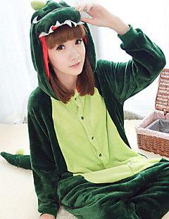 Kigurumi Pijamas Dinossauro Collant/Pijama Macacão Festival/Celebração Pijamas Animal Verde Escuro Miscelânea Lã Polar Kigurumi Para