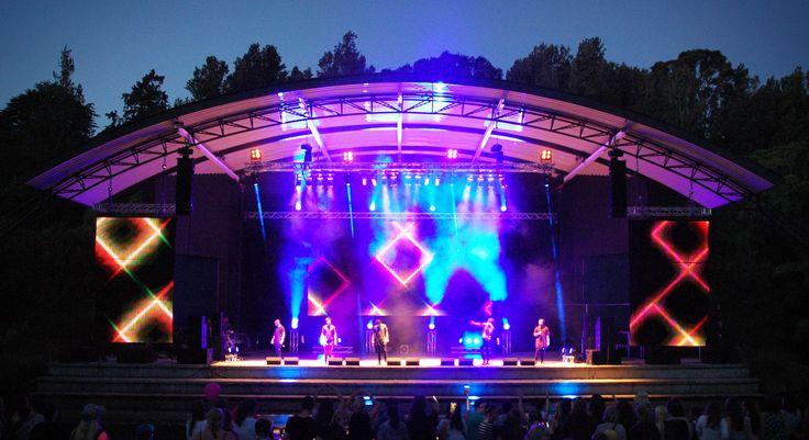 Moorhouse at the #BowlNightOut, TSB Bank Festival of Lights #FOL2015. #MartinLighting #d&baudiotechnik #QSC #JBL #Yamaha #LED #lighting #PixelDrape