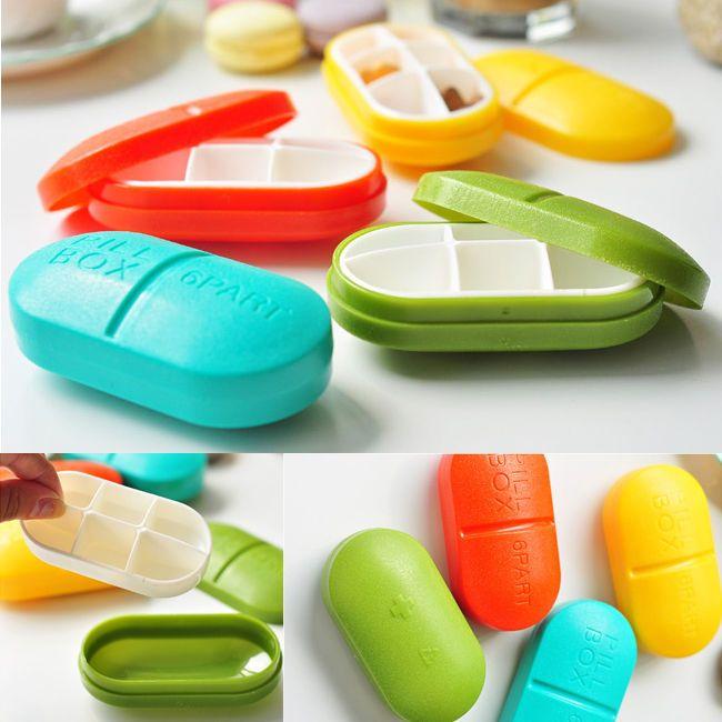 1pc Cute Mini 6 Slots Portable Medical Pill Box Drug Medicine Case Organizer New #BrandNew