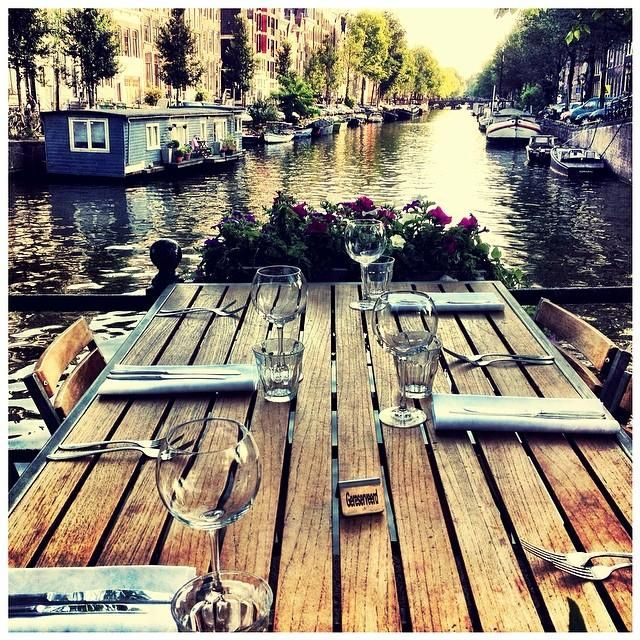 Find you #zen over the Amsterdam canals for a calming early breakfast.  Photo courtesy of carinaokula on Instagram.