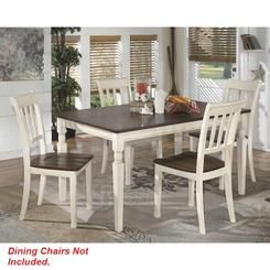 Ashley Taylor Ashley D583-25 Rectangular Dining Room Table Whitesburg Brown/White Casual Modern Dining Table Furniture Kitchen