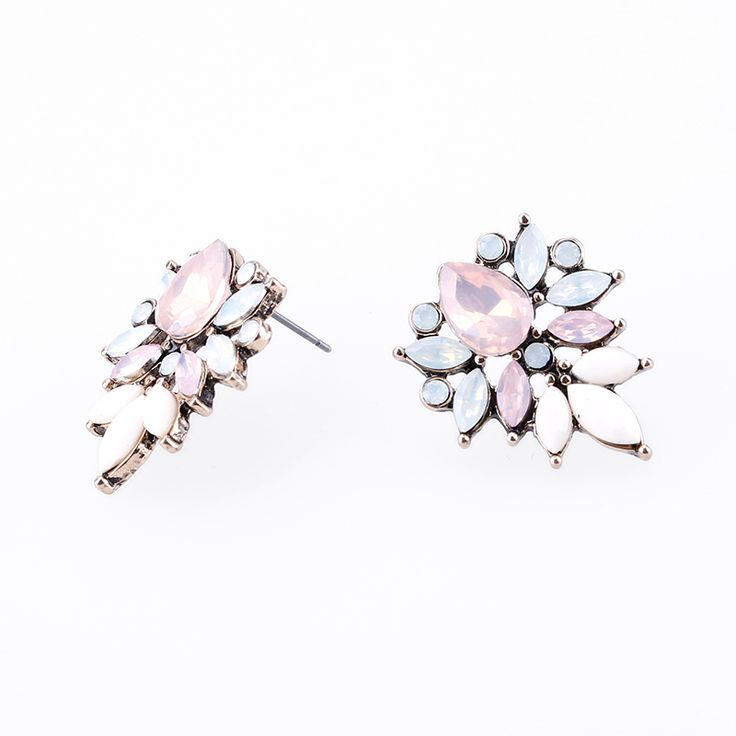 Find More Stud Earrings Information about 2017 Good quality Popular Clear Crystal Rhinestone Flower Stud Earrings For Women statement earrings pendientes birthday Gift,High Quality earring packing,China flower decoration for cake Suppliers, Cheap flower stud earrings from Yiwu zenper accessories crafts co.,ltd  on Aliexpress.com