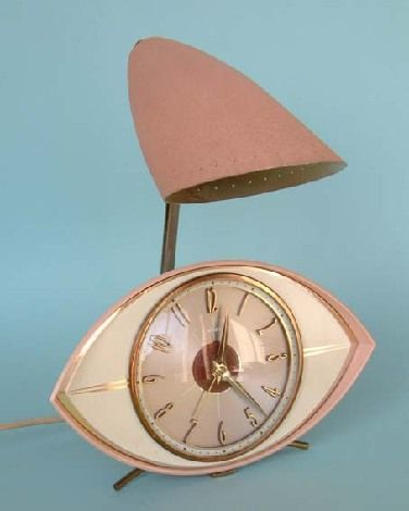 Mid Century Modern clock and night light.