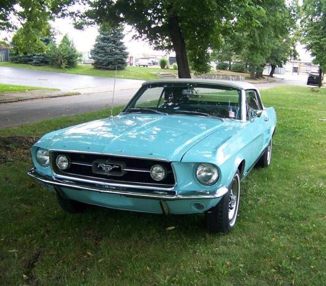 Frost Turquoise 1967 Ford Mustang GT Convertible...would so makes my eyes shine.