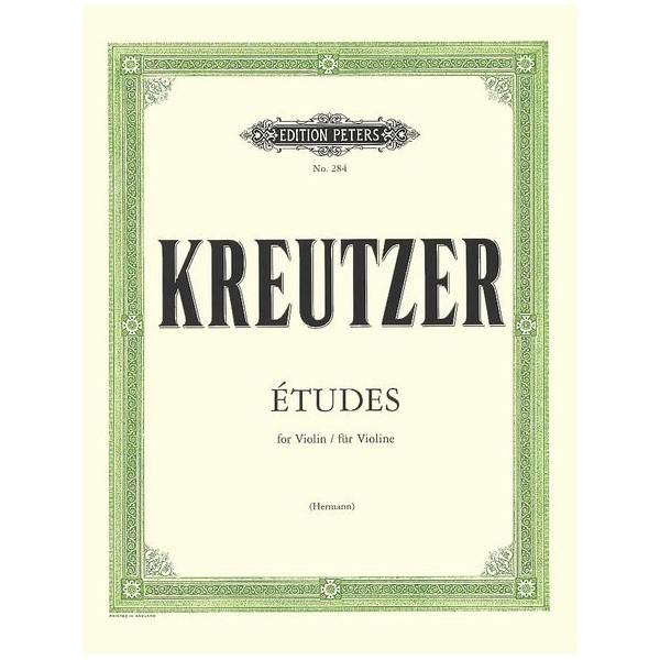 Kreutzer 42 Studies for Violin. These exercises are excellent technique builders for the intermediate to early advanced player. $23.00