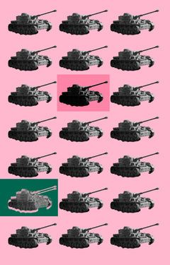 "Saatchi Art Artist Veronica Formos; Printmaking, ""No point difference (LIMITED edition- 5 pieces)"" #art #newmedia #print #printmaking #tank #pink #contemporaryart #digital #photoshop"