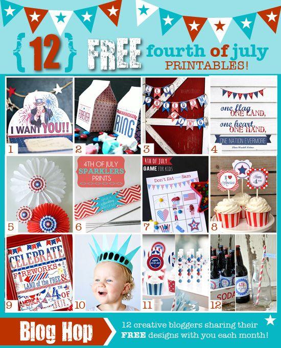 12 FREE 4th of July Printables!