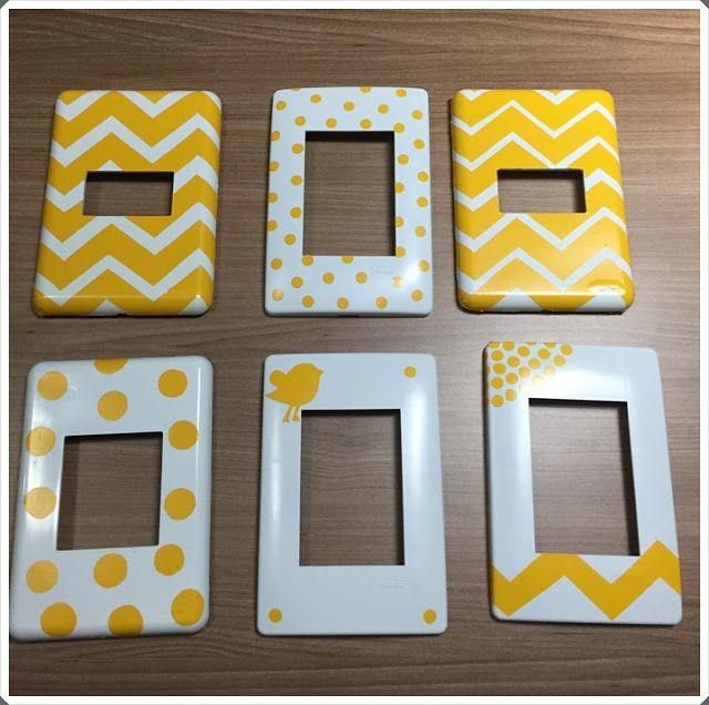 Olha o que eu sei fazer!: Espelhos para tomadas e interruptores personalizad...