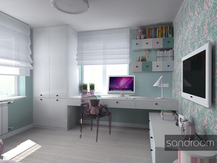 Miętowy pokój Tosi - zdjęcie od sandroom - Pokój dziecka - Styl Nowoczesny - sandroom
