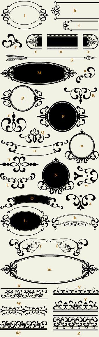 Letterhead Fonts / LHF Confection Essentials 1 / Classic Panels Borders