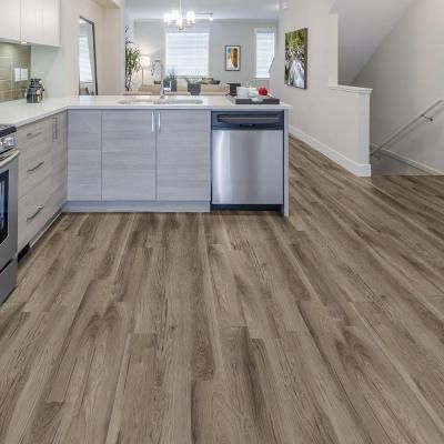 TrafficMASTER Allure 6 in. x 36 in. Weathered Stock Chestnut Resilient Vinyl Plank Flooring (24 sq. ft. / case)-83312 - The Home Depot