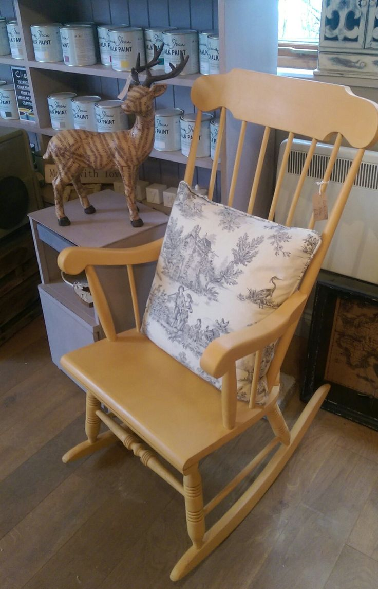 Rocking chair painted in Arles Chalk Paint by Annie Sloan
