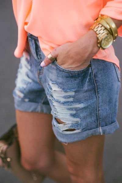 distressed + shorts