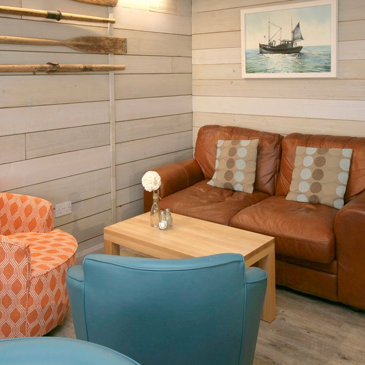 Nautical themed lounge seating, Ladram Bay Holiday Park - Pebbles Restaurant, Devon, England